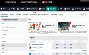 Ставки на НБА в BetStars